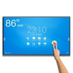 Een maximale zichtbaarheid van de beelden van het interactieve scherm